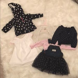 Lot of Carter's and Osh 6m girl clothes